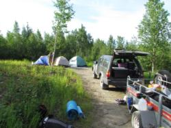 Campsite at arctic circle