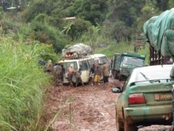 Traffic jam, bad roads, Cameroon